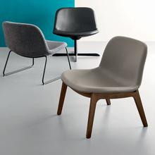 Upholstered lounge chair in metal