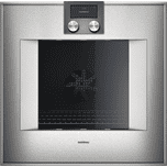 "Gaggenau400 series 400 series oven Stainless steel-backed full glass door Width 24"" (60 cm) Left-hinged Controls on top"