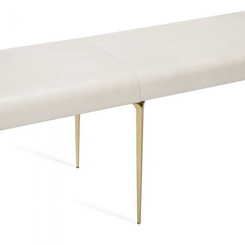 Stiletto Bench - Cream/ Brass