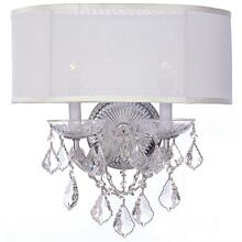 Brentwood 2 Light Clear Crystal Chrome Sconce