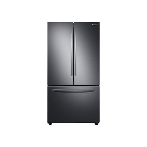 28 cu. ft. Large Capacity 3-Door French Door Refrigerator in Black Stainless Steel