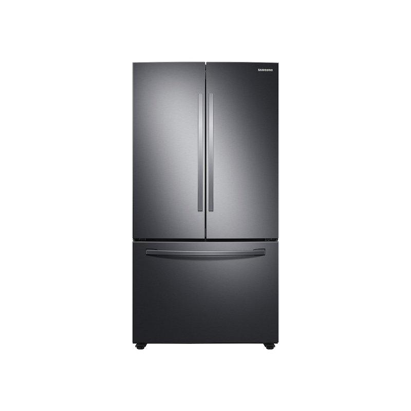 28 cu. ft. Large Capacity 3-Door French Door Refrigerator in Black Stainless Steel