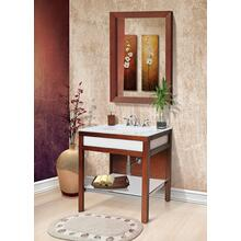Park Avenue Bathroom Vanity With Painted Tempered Glass Integrated Bathroom Sink