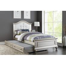 Harel Twin Bed, Silver-white