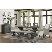 5062 Old Forge 6-Piece Dining Set (with 2 wood chairs, 2 upholstered chairs, & bench)