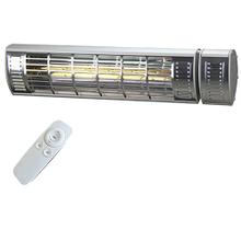 View Product - Original SUNHEAT 1500 Watt Electric Wall (or Tripod) Mounted Patio Heater with Remote - Silver