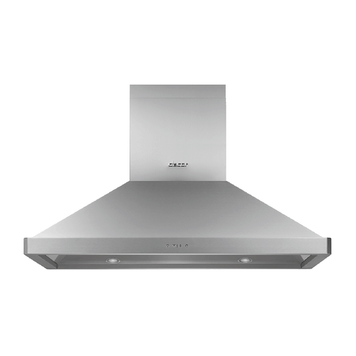 "42"" Chimney Island Hood, Silver Stainless Steel"
