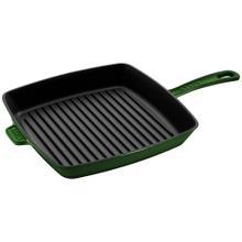 Staub Cast Iron 10-inch Square Grill Pan - Basil