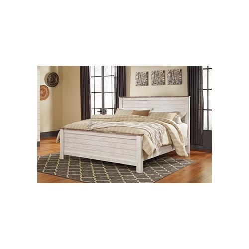 Ashley Furniture - Ashley Furniture B267 Willowton - Whitewash Bedroom set Houston Texas USA.