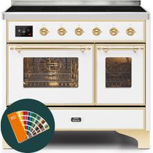 40 Inch Blue Green Electric Freestanding Range