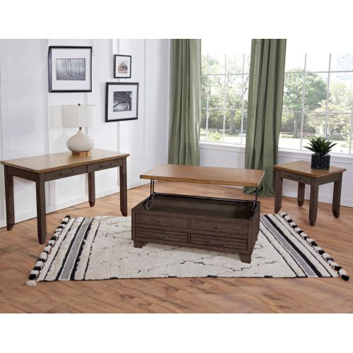 Bear Creek Brown Sofa Table
