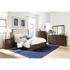 Monterey - Queen/king Upholstered Bed Rails - Mink Finish