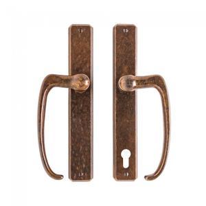 "Hammered Patio Sliding Door Set - 1 3/4"" x 11"" Silicon Bronze Brushed Product Image"