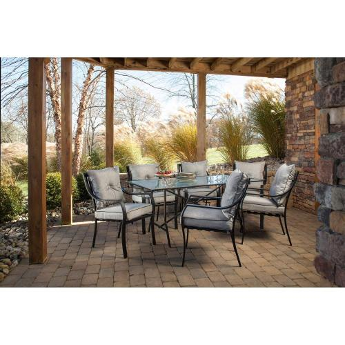Hanover Lavallette 7-Piece Outdoor Dining Set in Gray, LAVALLETTE7PC