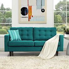 See Details - Empress Upholstered Fabric Loveseat in Teal