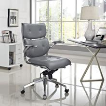 Push Mid Back Office Chair in Gray