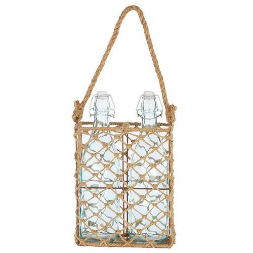 Basket W/Bottles