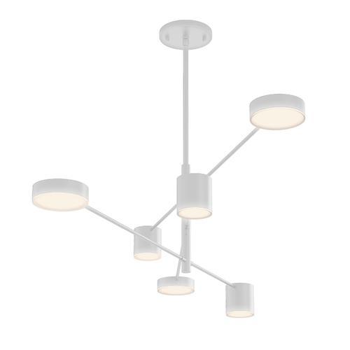 Sonneman - A Way of Light - Counterpoint LED Pendant [Size=6-Light, Color/Finish=Satin White]