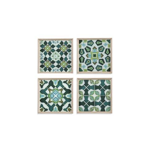 Bassett Mirror Company - 4 PC Palm Piazza Tile