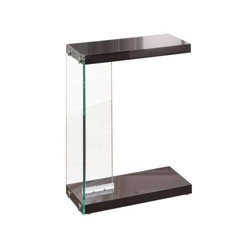 Elaina Chair Side End Table, Glossy Black