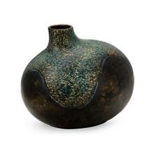 Small organic vase in dark bronze