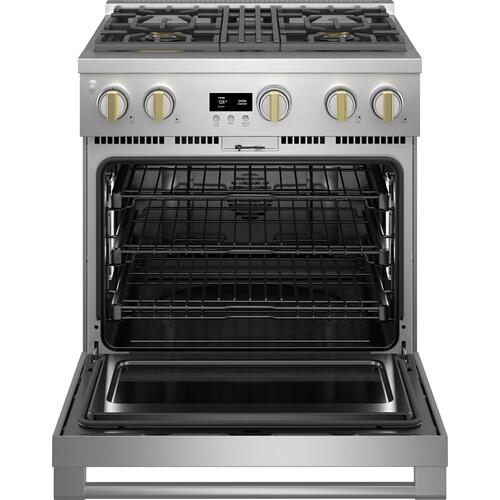 "Monogram 30"" Dual-Fuel Professional Range with 4 Burners (Natural Gas) - Coming Spring 2021"