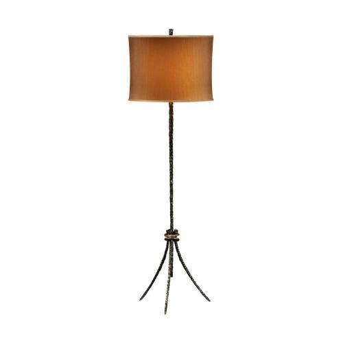 Bronze hammered floor lamp
