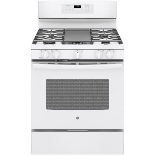 "GE 30"" Gas Freestanding Convection Range Stainless Steel JCGB700SEJSS"