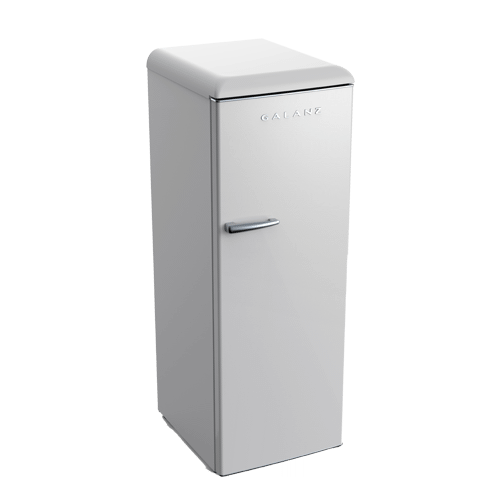 Galanz 11.0 Cu Ft Retro Upright Freezer in Milkshake White