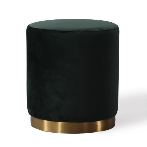 Tov Furniture - Opal Green Velvet Ottoman