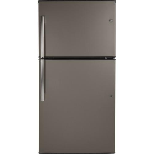 GE Appliances - GE® ENERGY STAR® 21.1 Cu. Ft. Top-Freezer Refrigerator