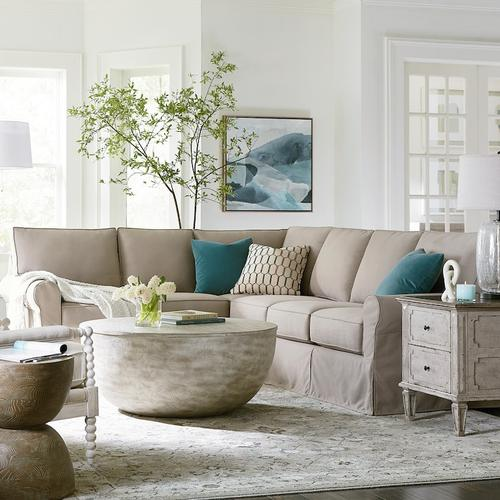 Raleigh L-Shaped Slipcover Sectional