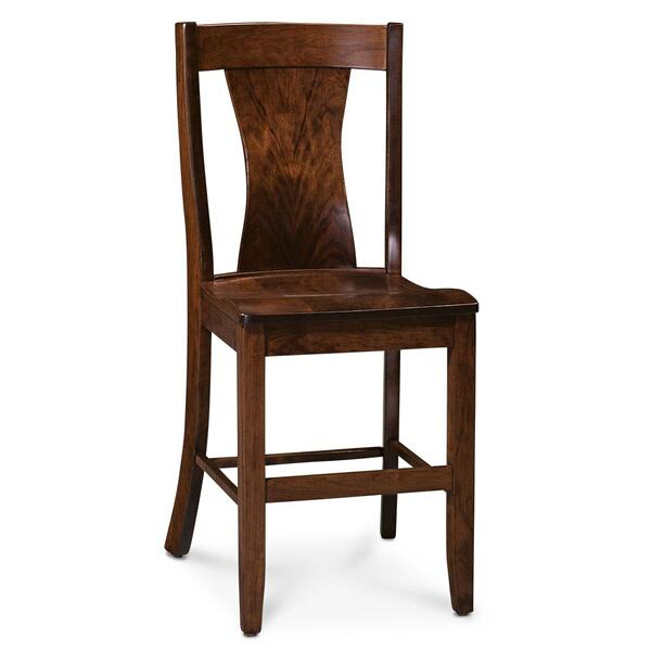 "See Details - Joseph Stationary Barstool, 30"" Seat Height / Fabric Cushion Seat"
