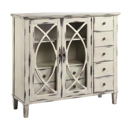 Briley 2-door 7-drawer Cabinet In White