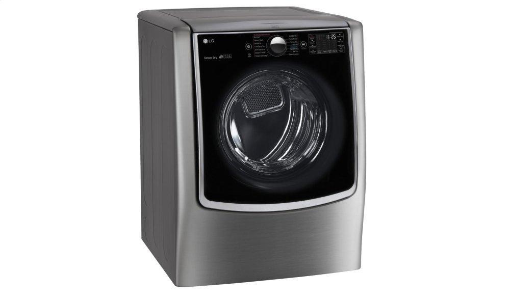 9.0 cu. ft. Large Smart wi-fi Enabled Electric Dryer w/ TurboSteam™ Photo #5