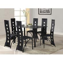 7 Pc. Black Contemporary Dining Set