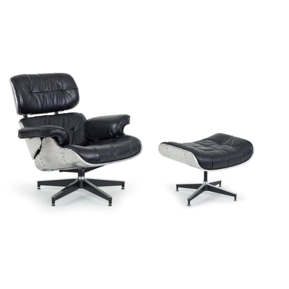See Details - Barca Lounge and Ottoman (black)