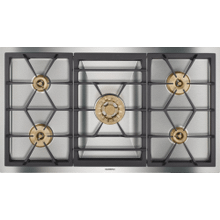 "400 series Vario 400 series gas cooktop Stainless steel Width 36"" (90 cm) Natural gas."