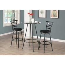 "BARSTOOL - 2PCS / 43""H / SWIVEL / SILVER GREY METAL"