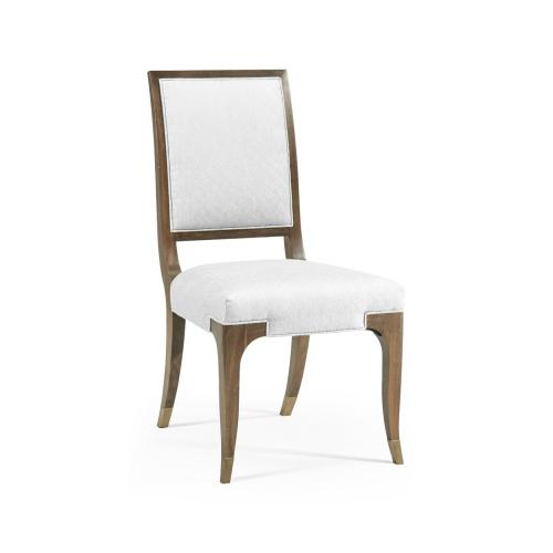 Hamilton Golden Amber Dining Side Chair, Upholstered in COM