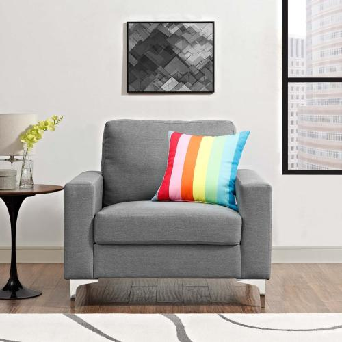 Allure Upholstered Armchair in Gray