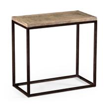 Limed oak side table