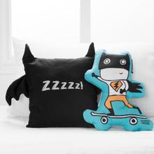 Dreamit - Superheroes Throw Pillows, 2- Pack, Turquoise and Black