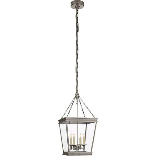 Visual Comfort CHC5610AN-CG E. F. Chapman Launceton 4 Light 13 inch Antique Nickel Foyer Lantern Ceiling Light, Small Square