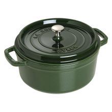 Staub Cast Iron Round Cocotte 4-Quart, Basil