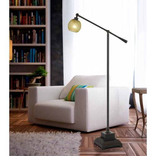 60W Brandon Metal Floor Lamp With Glass Shade