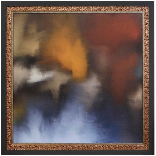 Style Craft - NIGHT STREET ABSTRACT I  47in w X 47in ht  Textured Framed Print  Made in USA
