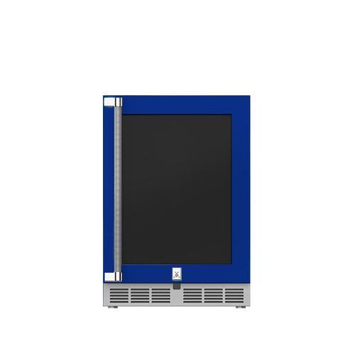 """Hestan - 24"""" Hestan Outdoor Undercounter Refrigerator (Glass Door) - GRGR Series - Prince"""