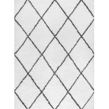 Jersey Shag - JRS1100 White Rug