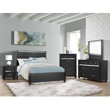 Gaston Nightstand Black